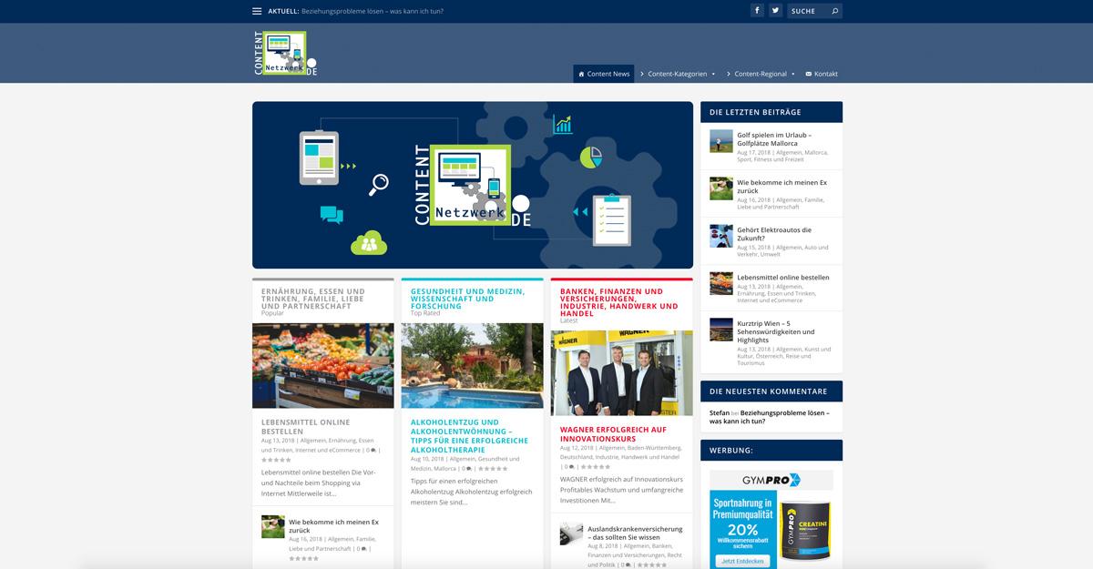 Screenshot Startbildschirm Vogelmann Consulting - Internetagentur aus Gilching nähe München