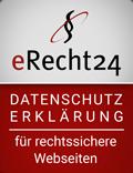 erecht24 siegel datenschutz rot Vogelmann Consulting - Internetagentur aus Gilching nähe München