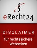 erecht24 siegel disclaimer rot Vogelmann Consulting - Internetagentur aus Gilching nähe München