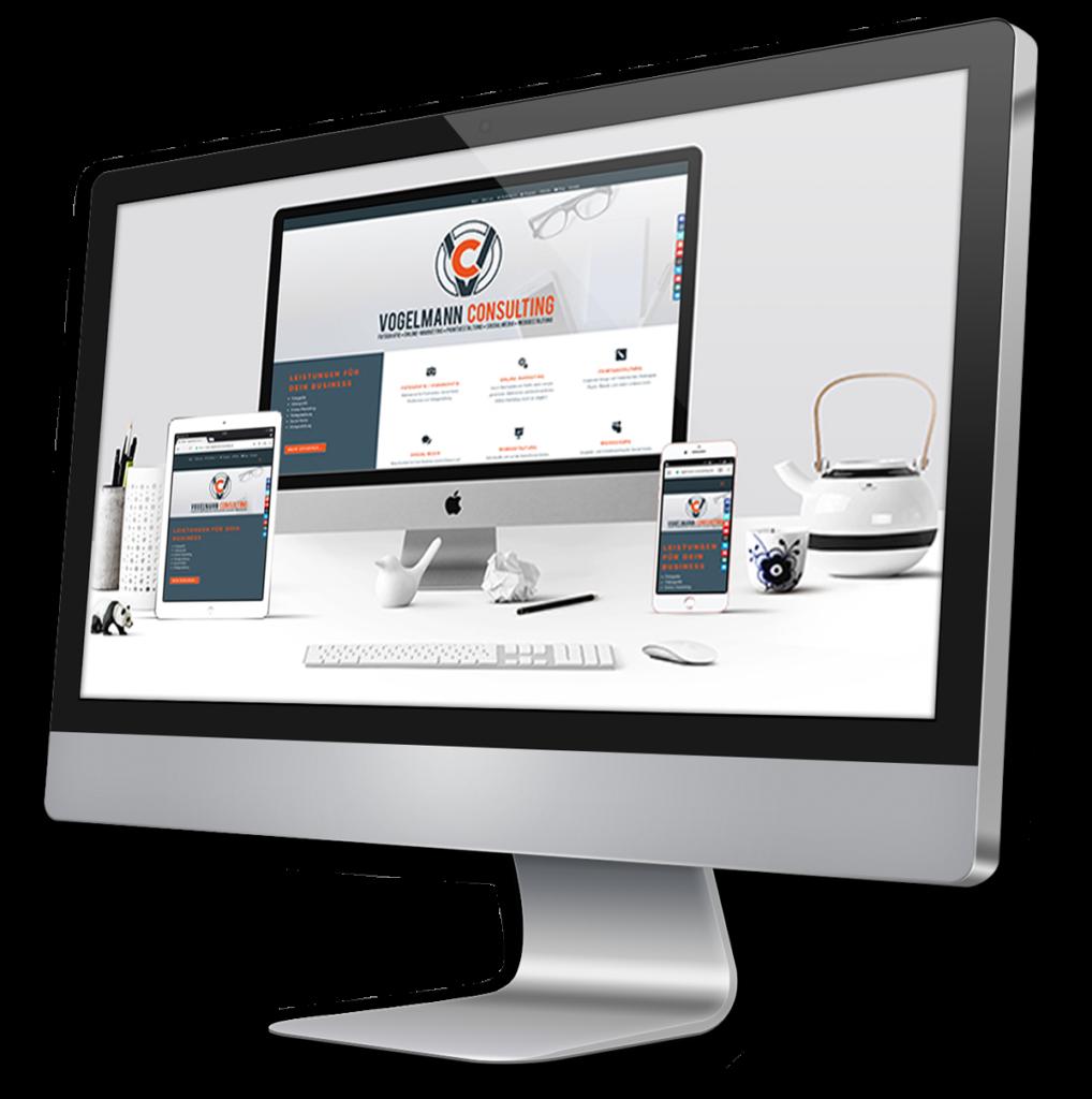 iMac Bildschirm Webdesign Vogelmann Consulting - Internetagentur aus Gilching nähe München