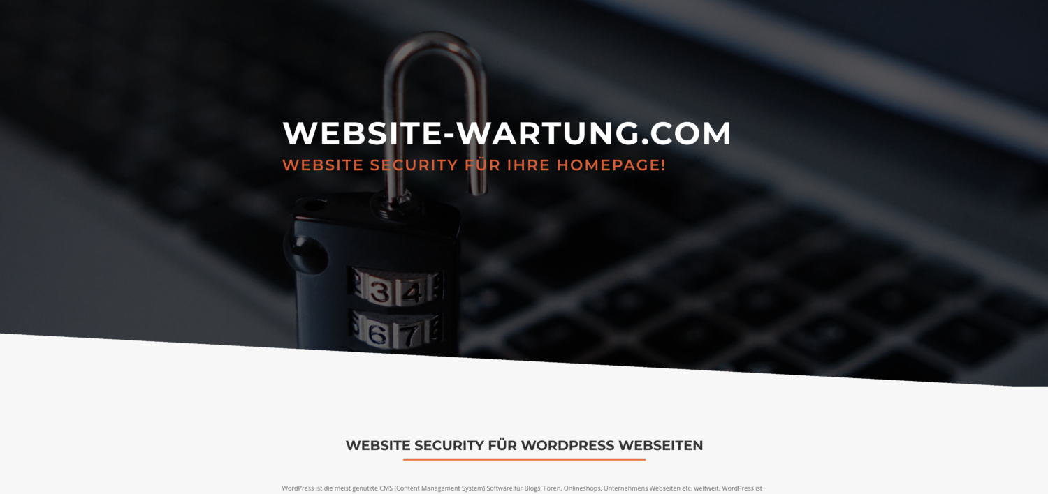 Website Wartung – WordPress Sicherheit