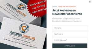 Newsletter Bild Facebook Vogelmann Consulting - Internetagentur aus Gilching nähe München